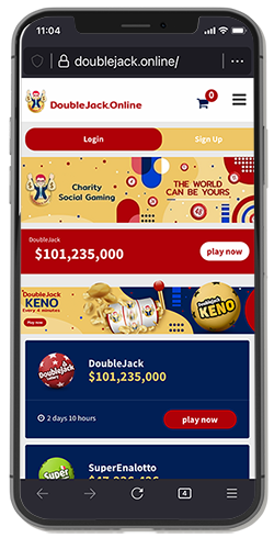 DoubleJack.Online - Charity Social Lottery - a guide tour